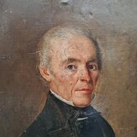 Naive French Oil Portrait 1858 (2 of 4)