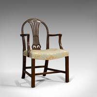 Pair of Antique Hepplewhite Revival Carvers, Mahogany, Armchair, Victorian (12 of 12)