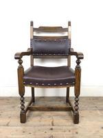 Pair of Mid 20th Century Oak Armchairs (5 of 7)