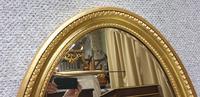 Edwardian Oval Gilt Mirror (4 of 4)