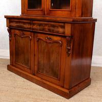 Library Glazed Bookcase Mahogany 19th Century Victorian Display Cabinet (10 of 11)