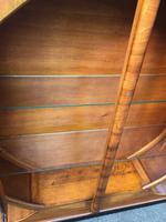Art Deco Walnut & Ebonised Round Display Cabinet (9 of 11)