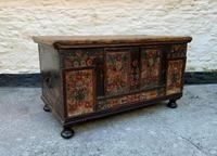 Large 19thc Swedish Country House Robust Painted Pine Storage Coffer Chest (2 of 18)