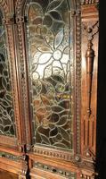 Victorian Carved Oak Secretaire Bookcase (11 of 25)