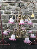 Antique English Brass Chandelier (12 of 13)