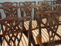 Set of 12 Georgian Style Mahogany Dining Chairs (6 of 12)