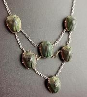 Art Deco Real Scarab Beetle Festoon Necklace (8 of 12)