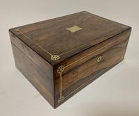Victorian Rosewood Inlaid Vanity Box (2 of 14)