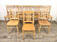 Set of Eight Vintage Beech Chapel Chairs