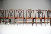 Set of 6 20th Century Mahogany Chippendale Style Dining Chair (10 of 13)