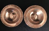 Pair of Planished Copper & Silvered Dishes by Hugh Wallis (4 of 5)