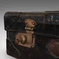 Antique Suitcase, English, Leather, Travel, Salesman, Officer, Case, Edwardian (10 of 10)