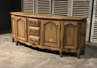 Bow Front French Bleached Oak Enfilade (5 of 11)