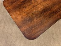 Good William IV Rosewood Library Stretcher Table (5 of 12)