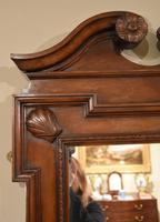 Early 18th Century Black Walnut Carved Wall Mirror (3 of 5)