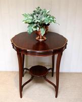Inlaid Mahogany Circular Table (2 of 12)
