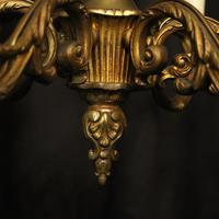 French 6 Light Gilded Bronze Early 20th Century Antique Chandelier (6 of 10)