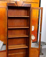 Art Deco Oak Glazed Bookcase (6 of 11)