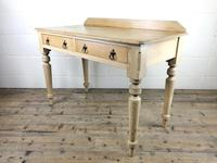 Victorian Antique Pine Two Drawer Side Table (8 of 13)