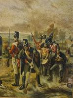 Antique Oil Painting - Wellington At Waterloo, The Dawn Of Day June 18th 1815 (After Robert Alexander Hillingford 1896) (3 of 8)