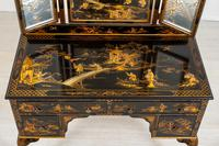 Queen Anne Style Chinoiserie Dressing Table & Chair (19 of 22)