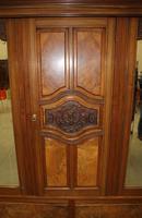 1920's Large Walnut Mirrored Compactum Wardrobe (2 of 5)