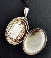 Antique Victorian Silver Locket, Aesthetic Era (12 of 13)