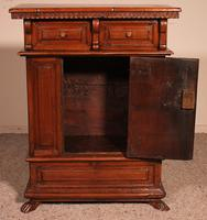 Small Italian Renaissance Credenza in Walnut c.1600 with Coat of Arms (4 of 11)