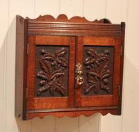 Victorian Carved Wall Cabinet (2 of 9)