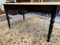 Antique Victorian Pine Farmhouse Table with Drawer (12 of 16)