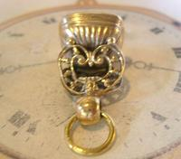 Antique Pocket Watch Chain Fob 1890s Victorian Large Gilt & Carnelian Samuel Fob (9 of 12)