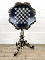 Antique Lacquered and Inlaid Chess Table (8 of 10)