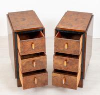 Stylish Pair of Burr Walnut Art Deco Bedside Cabinets (3 of 7)