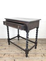 Antique Oak Side Table with Drawer (8 of 10)