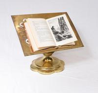 Victorian Gothic Reading Stand Antique Brass 1860 Lecturn (8 of 9)