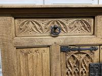 French Gothic Bleached Oak Sideboard (16 of 17)