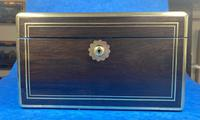 Georgian  Rosewood Brassbound Vanity Box (4 of 34)