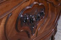 Lovely Quarter Veneer Louis XV Style Double Bed (4 of 10)