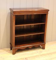 Edwardian Inlaid Mahogany Open Bookcase (6 of 8)