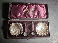 Cased Pair of Victorian Silver Salts (4 of 5)