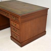 Large Antique Victorian  Mahogany  Pedestal Desk (12 of 12)