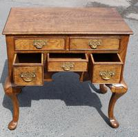 1960s Quality Hand Made Oak Lowboy with 5 Drawers (2 of 5)