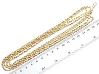 9ct Yellow Gold Longuard Chain - Antique c.1890 (7 of 12)