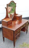 1900's Quality Mahogany Dressing Table with Central Mirror Stand (5 of 5)