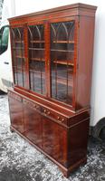 1960s 3 Door Mahogany Bookcase with Glazed Top (4 of 5)