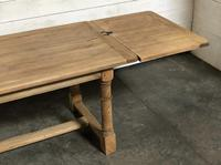 Bleached Oak Farmhouse Dining Table with Extensions (14 of 16)