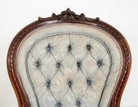 Pretty Pair of Victorian His and Her Walnut Parlour Chairs (5 of 9)