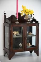 Vintage Wall Mount Glazed Cabinet (7 of 9)