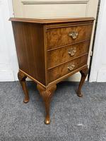 Set of 3 Burr Walnut Bedside Drawers (13 of 16)