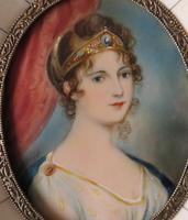 Hand Painted Miniature Portrait Princess Louise of Prussia (2 of 4)